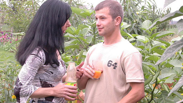 Mature Lady Fucks Young Gardener