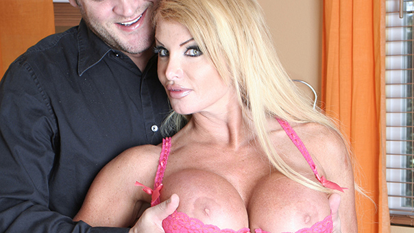 Blonde Housewife Taylor Wane With Gigantic Boobs Fucked